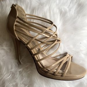 ChineseLaundry Nude Platform Stiletto Strappy Heel